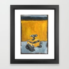Wall-E and Rothko Framed Art Print
