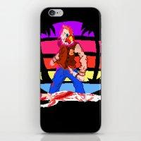 hotline miami iPhone & iPod Skins featuring Hotline Miami Richard  by Allan Valdez