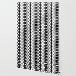 Dividing Cells Black and White Pattern Wallpaper