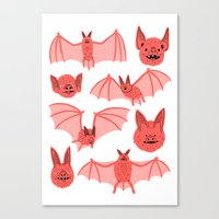 bats Canvas Prints featuring Bats by Jack Teagle