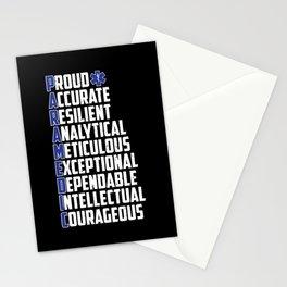 EMS Emergency Paramedic Word Cloud Stationery Cards