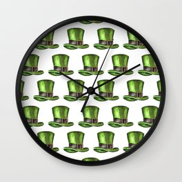 Saint Patrick's Day Leprechaun Hats Wall Clock