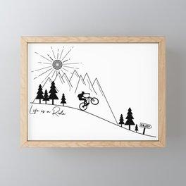 cycling mountain bike mountainbike cyclist bicycle MTB gift Framed Mini Art Print