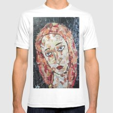 MELANCHOLIC VENUS SMALL Mens Fitted Tee White