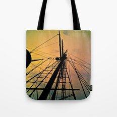 We Sail at Dawn Tote Bag