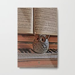the pianos Owl Metal Print
