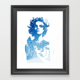 Snow: Natalia Vodianova Framed Art Print