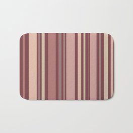 Striped Pattern (quiet shades of brown) Bath Mat
