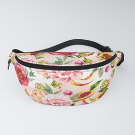 Pattern flowers and tropical fruits Fanny Pack