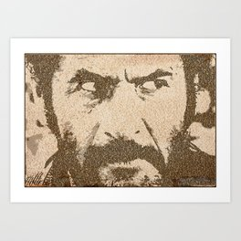 Text Portrait of Tuco Ramirez with full script of The Good The Bad and The Ugly Art Print