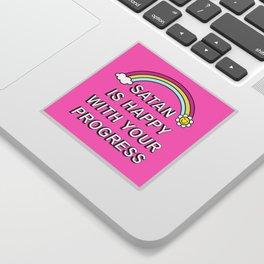 Satan is Happy with your Progress Sticker