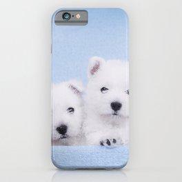 West Highland White Terrier puppies iPhone Case