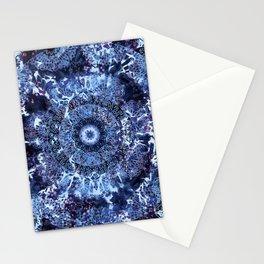Iris Mandala Blue Stationery Cards