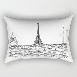Paris skyline Rectangular Pillow
