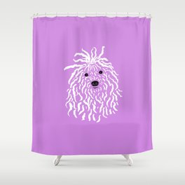Puli (Violet and White) Shower Curtain