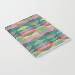 Colorblock Tribal Triangle Pattern Notebook
