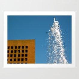 Fountain and Sky Art Print