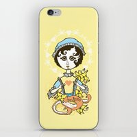 jane austen iPhone & iPod Skins featuring Jane Austen Holy Writer by roberto lanznaster