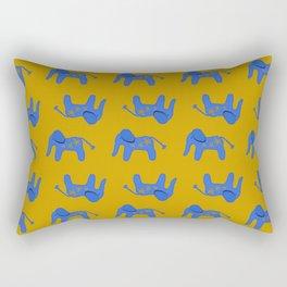 Blue Elephant Rectangular Pillow