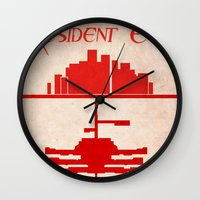 resident evil Wall Clocks featuring Resident Evil by JackEmmett