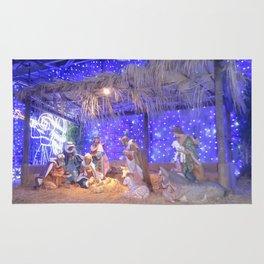 Christmas Nativity Scene Rug