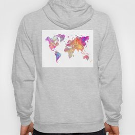 Map of the world #map #world Hoody