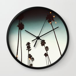 Bokeh Palms Wall Clock