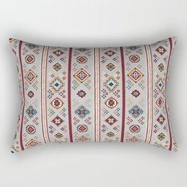 Caucasian Rugs(Stripe) - White Rectangular Pillow