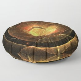 Magic Circle - Red and Gold Floor Pillow