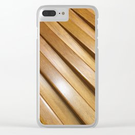 Wood Gaps. Fashion Textures Clear iPhone Case