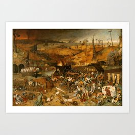 BRUEGEL THE ELDER, PIETER Bruegel Paises Bajos, 1525 - Bruselas, 1569 The Triumph of Death 1562 - 15 Art Print