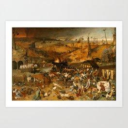 BRUEGEL THE ELDER, PIETER Bruegel Paises Bajos, 1525 - Bruselas, 1569 The Triumph of Death 1562 - 15 Art Print