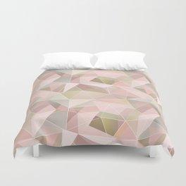 Broken glass in light pink tones. Duvet Cover