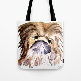 Pekingese love Dogs Tote Bag