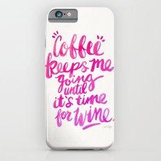 Coffee & Wine – Pink Ombré Slim Case iPhone 6s