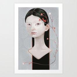 Japanese Black Blossom Art Print