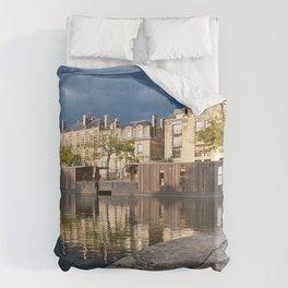 Nantes Riverside Scenery Duvet Cover