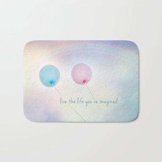 balloon love: live the life you've imagined Bath Mat