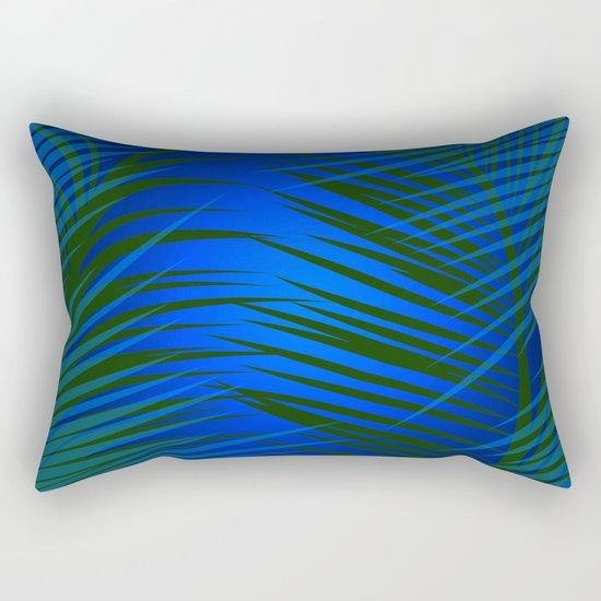 Tropical Palm in Dark Rectangular Pillow