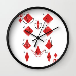 Clipped Wings Deck: The 10 of Diamonds Wall Clock