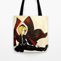 fullmetal Tote Bags featuring Fullmetal Alchemist - Edward Elric by VoicesRantOn