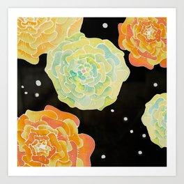 Lighted Flowers Art Print