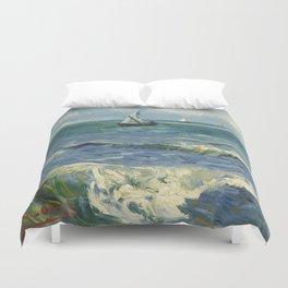 Seascape near Les Saintes-Maries-de-la-Mer Duvet Cover