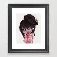(zombie) loved Framed Art Print