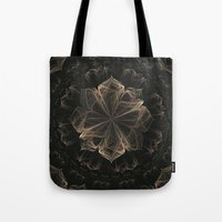 ornate Tote Bags featuring Ornate Blossom by Charma Rose