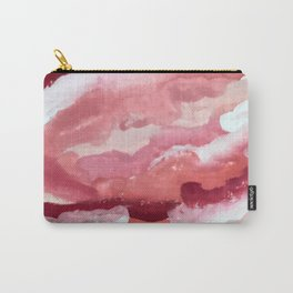 Carnations [2]: abstract | acrylic | watercolor | pink | red | white | wall art | fine art Carry-All Pouch