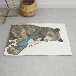 the bear au pair Rug