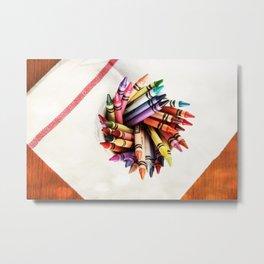 Crayon Love: Bright Bright Sunshiney day!! Metal Print
