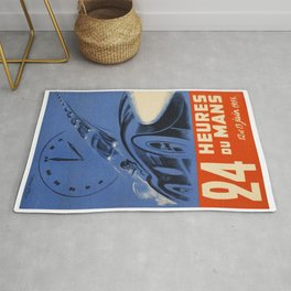 1954 Le Mans poster, Race poster, car poster, Rug