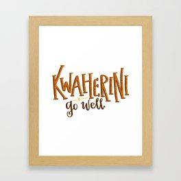 Kwaherini Framed Art Print